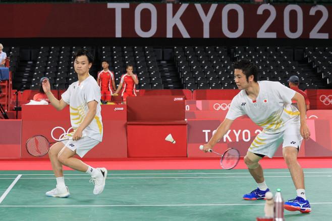 遠藤、渡辺組のプレー 東京2020オリンピック・パラリンピック ニュースサイト:時事ドットコム