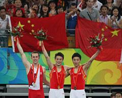 表彰台をしめる中国選手