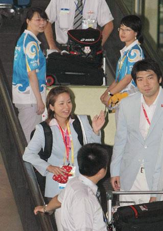 北京五輪・クレー射撃代表が北京到着