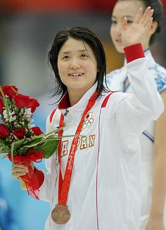 五輪・競泳女子で中村が2大会連続の銅