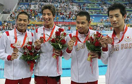 五輪・銅メダルの日本チーム