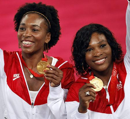 五輪・金メダルのウィリアムズ姉妹