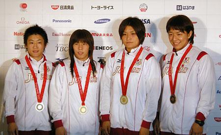五輪・メダルを獲得した4選手