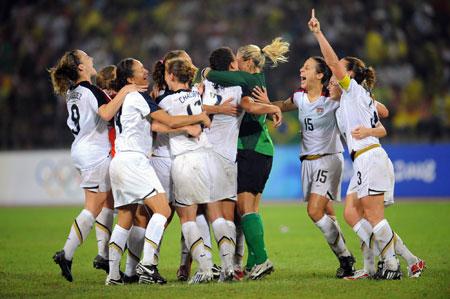 五輪・歓喜の米国チーム