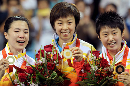 五輪・メダル独占の中国