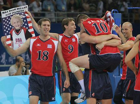 五輪・喜ぶ米国チーム