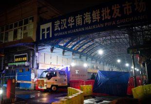 新型肺炎の患者が多く報告されている中国・武漢市の海鮮市場=2020年1月11日、中国・武漢市【AFP時事】