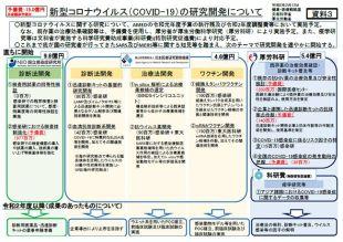 〔図3〕新型コロナウイルス(COVID-19)の研究開発について