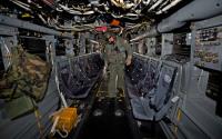 米空軍のCV22オスプレイのキャビン内部=2008年5月21日【AFP=時事】