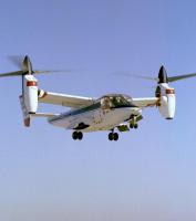 V22オスプレイのベースとなった実験機XV15(米航空宇宙局提供)【時事通信社】