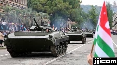 ◎スフミの軍事パレード 1993年の...