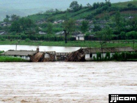 連日の大雨で倒壊した黄海北道黄州郡九浦里の家屋(北朝鮮…:最新の北 ...