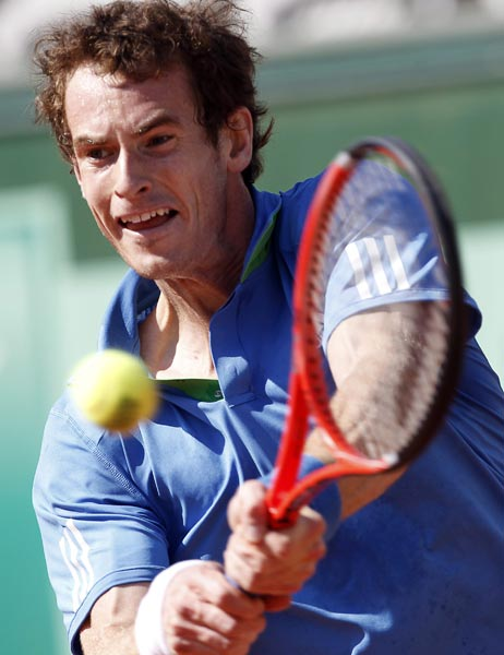 全仏オープン男子シングルス準々決勝…:男子テニス アンディ・マリー ...