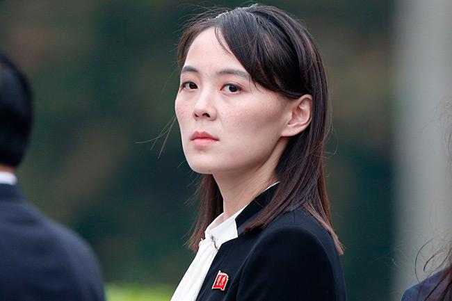 北朝鮮の金正恩朝鮮労働党委員長の妹、与正・党第1副部長=2019年3月、ハノイ【AFP時事】 北朝鮮の金正恩朝鮮労働党…