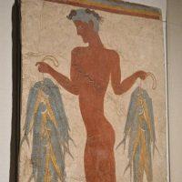 漁夫のフレスコ画。紀元前…:特...