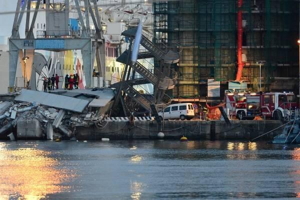 イタリアのANSA通信によると、北部…:イタリア大型貨物船激突事故 写真 ...