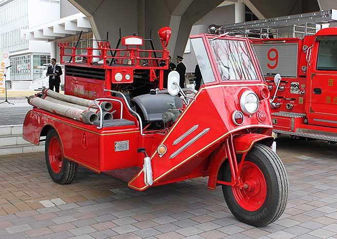 昭和に活躍した3輪消防ポンプ自動車。このほど福島県…:世界の消防車 ...