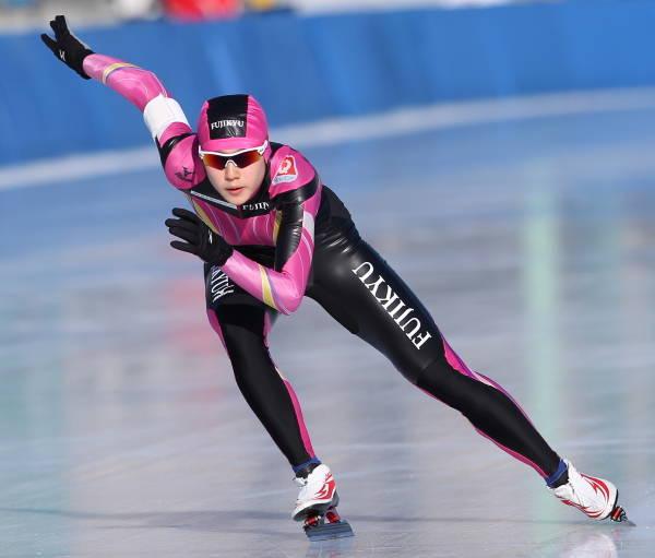 全日本スピードスケート・女子500メートルで2位の菊池彩花(富士急)