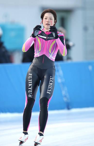 全日本スピードスケート・女子1500メートルで3位の菊池彩花(富士急)