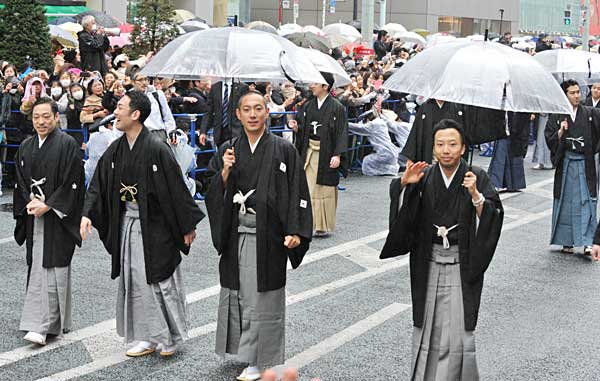 歌舞伎座新開場記念パレード 写真特集