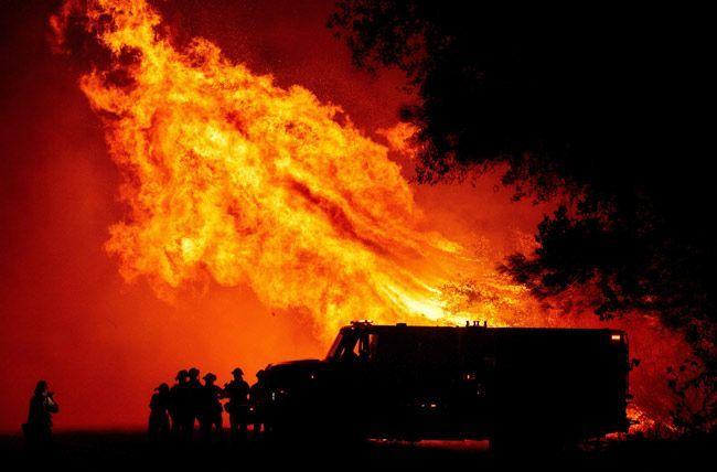 火事 原因 山