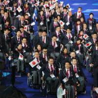 パラリンピック開会式で入場行進する日本…:ロンドン・パラリンピック ...