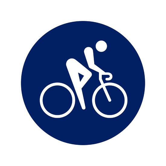 東京五輪のピクトグラム「自転車競技ロード」(Tokyo2020提供)