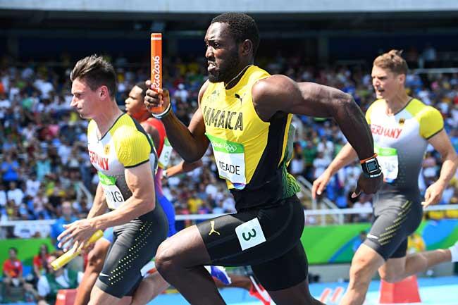 リオ五輪 男子400メートルリレー 写真特集:時事ドットコム