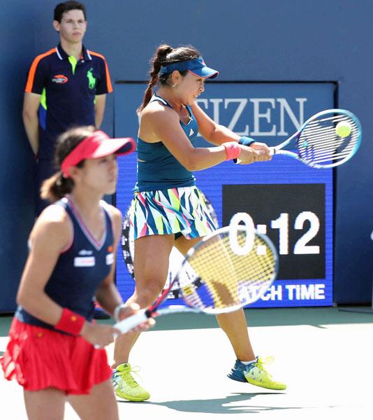 全米オープン女子ダブルス3回戦...