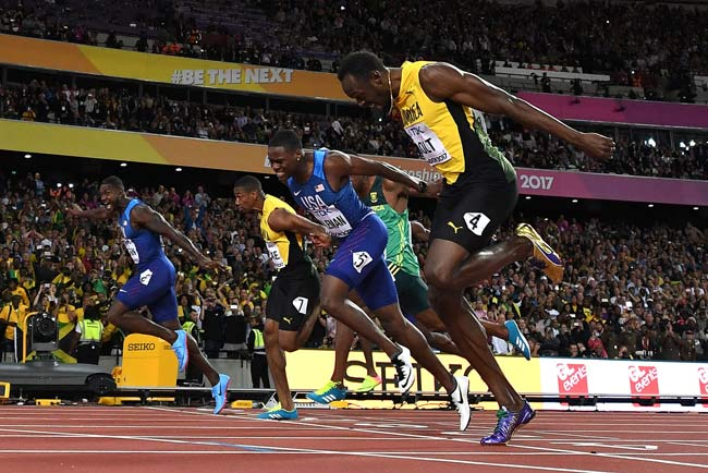 世界陸上・男子100メートル決勝...
