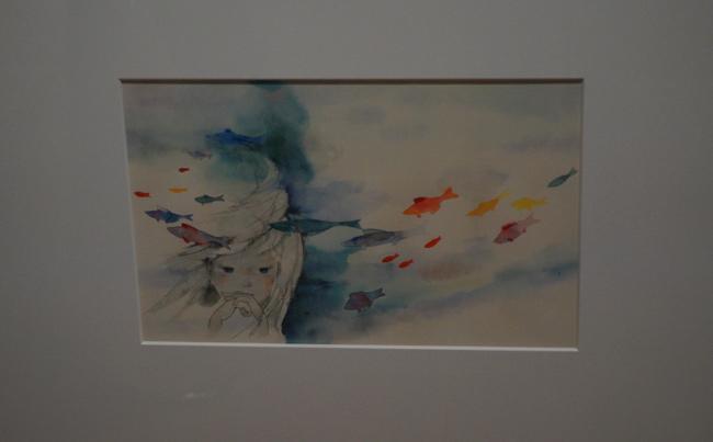 王子を想う人魚姫」(1967年…:絵本作家・いわさきちひろの作品 ...