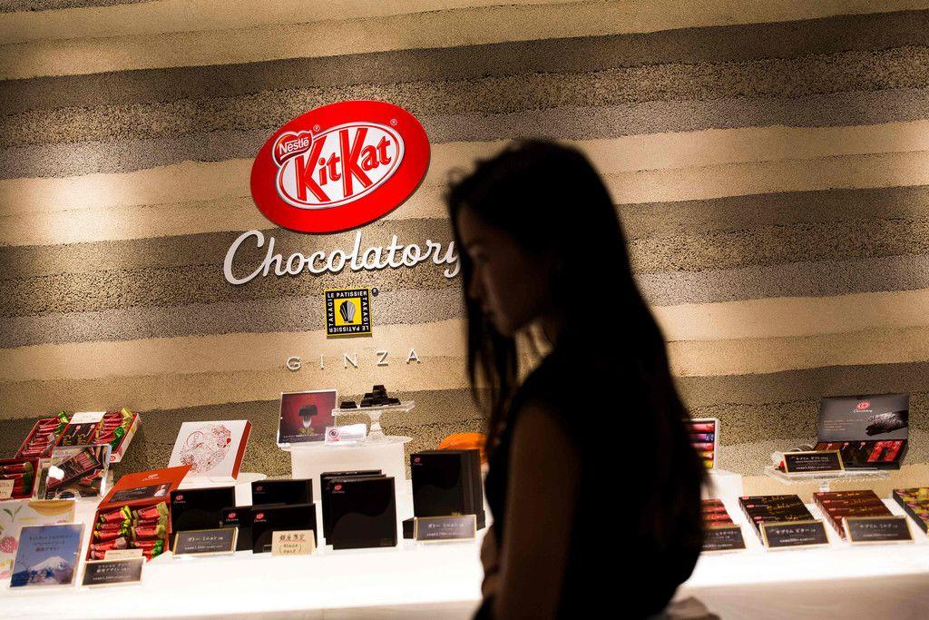 東京のキットカット・ショコラトリー=2017年8月29日(AFP時事)