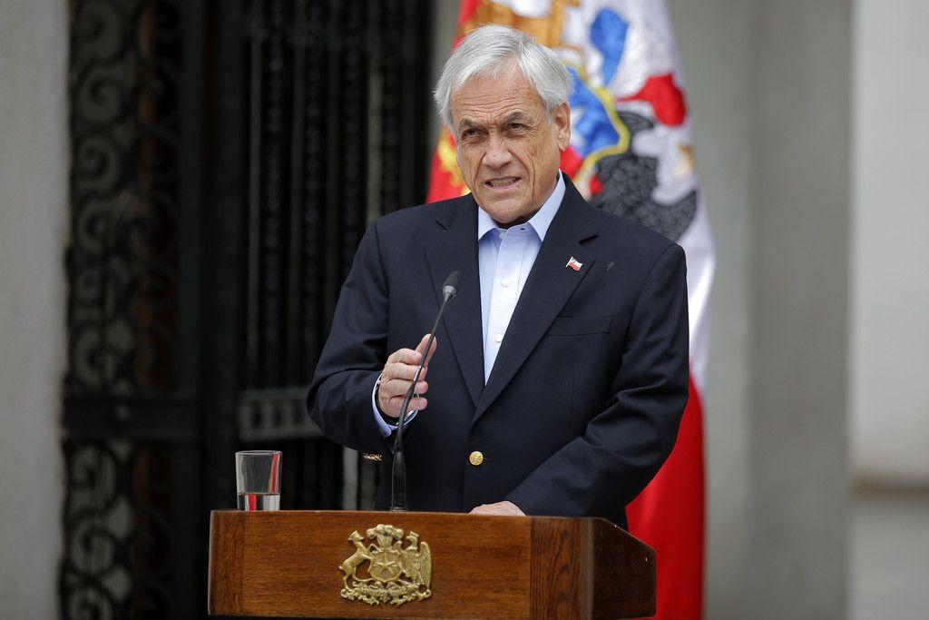 チリのピニェラ大統領=26日、サンティアゴ(AFP時事)