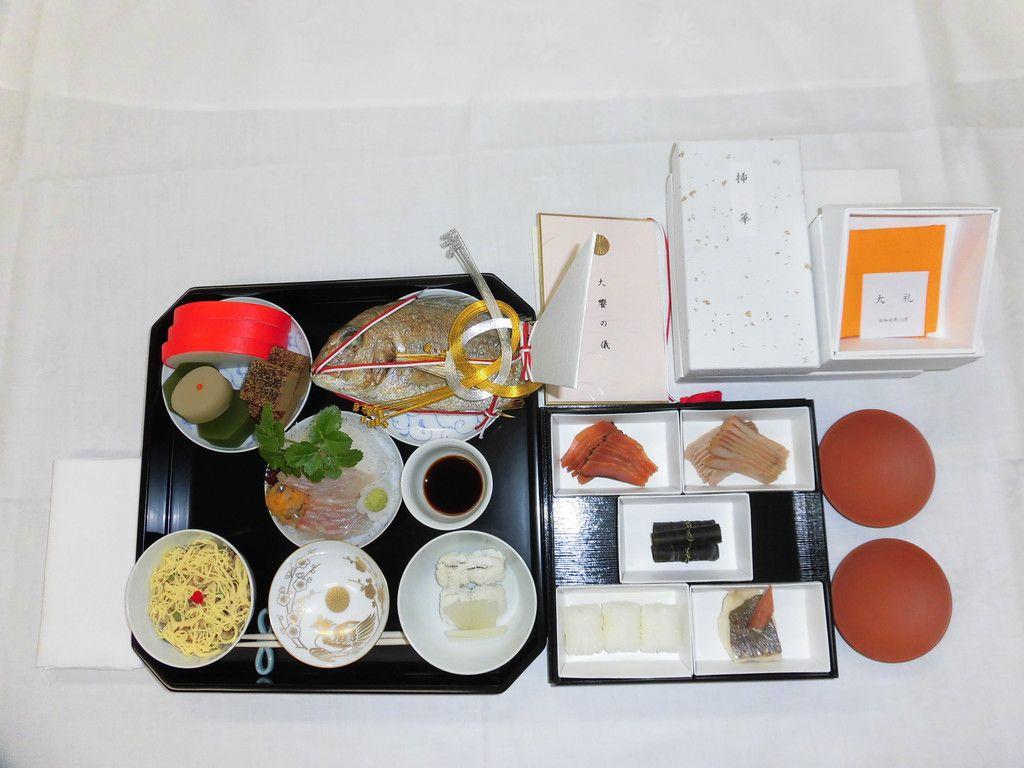 「大饗の儀」で出される料理(宮内庁提供)