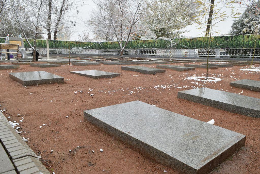 シベリア抑留でウズベキスタンに送られ亡くなった日本人の墓地=22日、タシケント