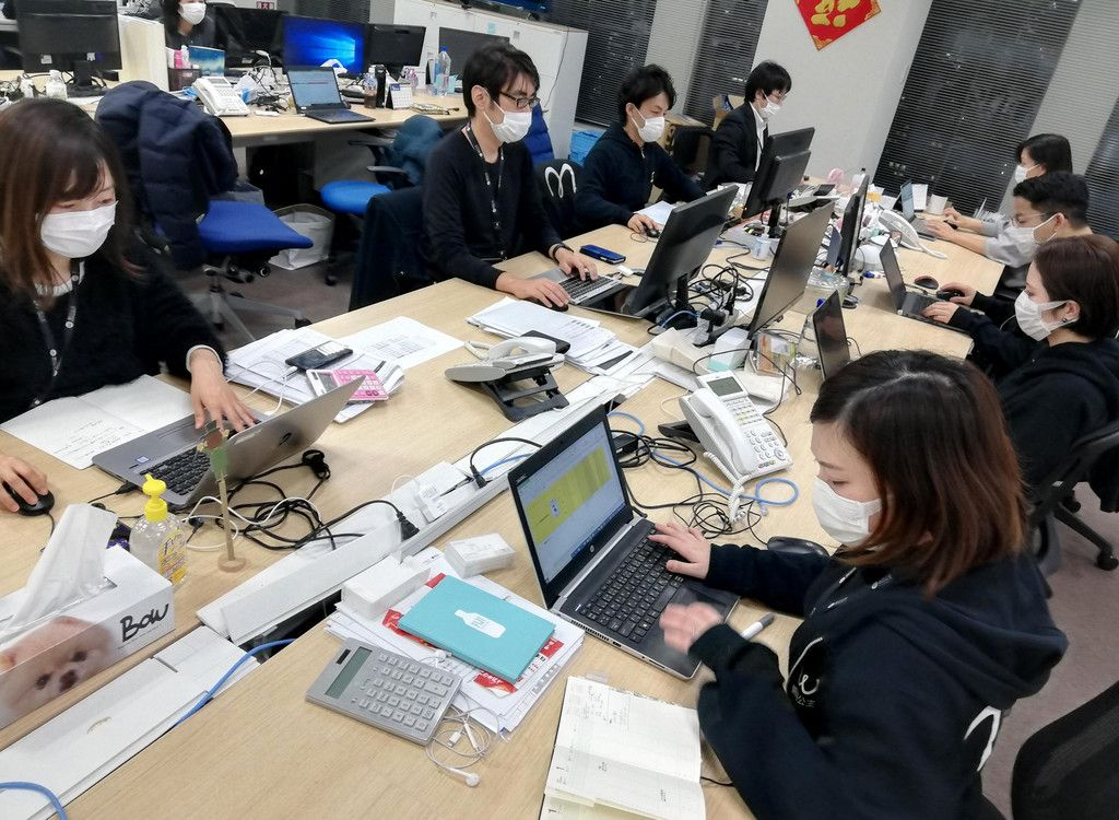マスクの無料提供を行ったインアゴーラの東京都港区のオフィス(同社提供)