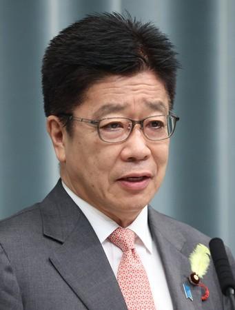 加藤勝信官房長官=29日、首相官邸